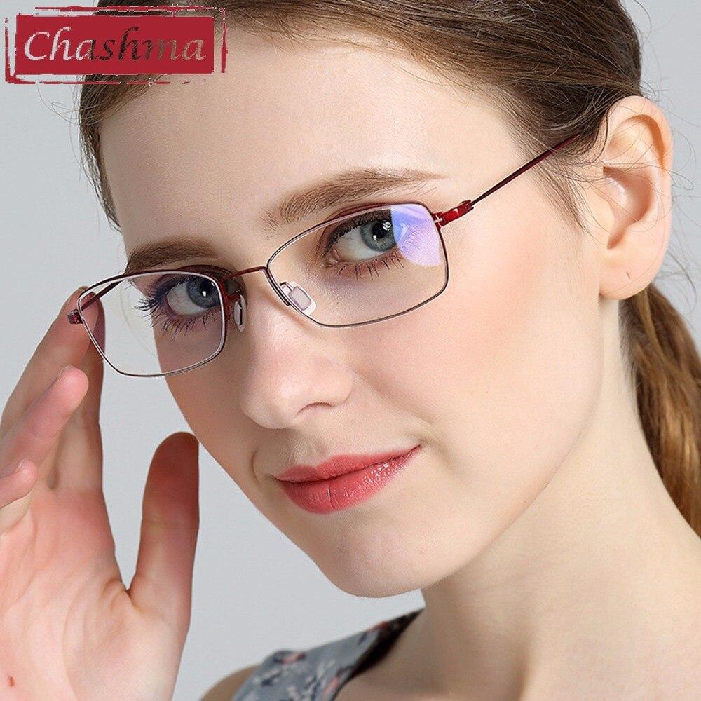 Chashma Брендовые очки для глаз Женские B титановые очки Роскошный высокого качества оправы Близорукость очки Рамка легкие очки для женщин