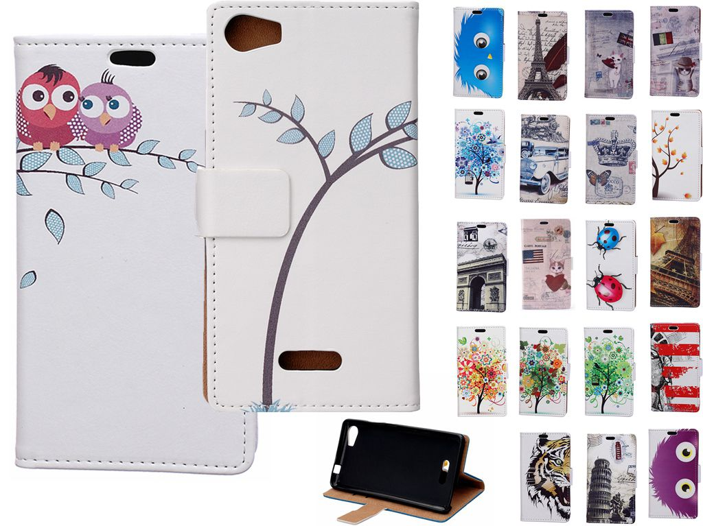 Card Slot PU Leather Stand Flip Case Cover Wiko Tommy Lenny 3 Sunny Fever Special Edition U Feel Lite Fab prime GO - nan chen store