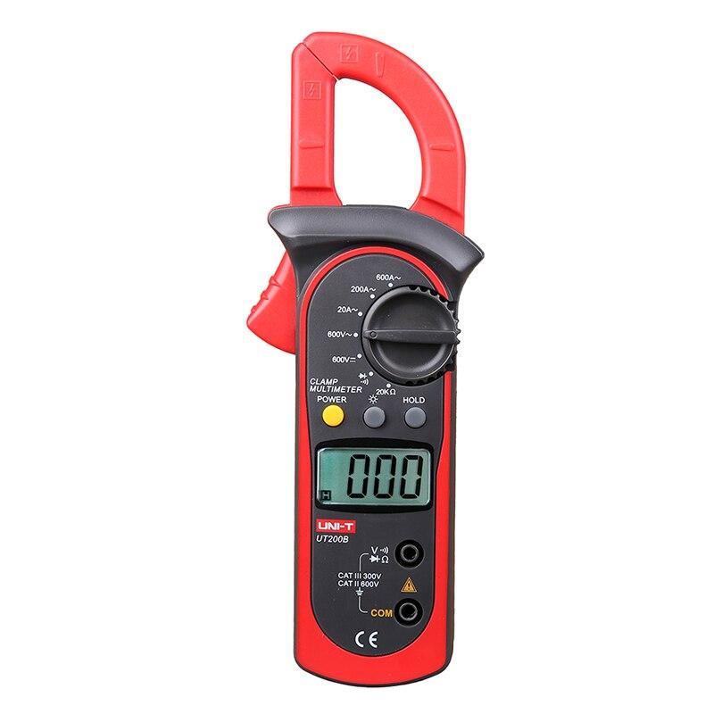 UT200B Manual Range Modern Digital Clamp Meters LCD Backlight AC/DC Voltage AC Current Resistance Tester