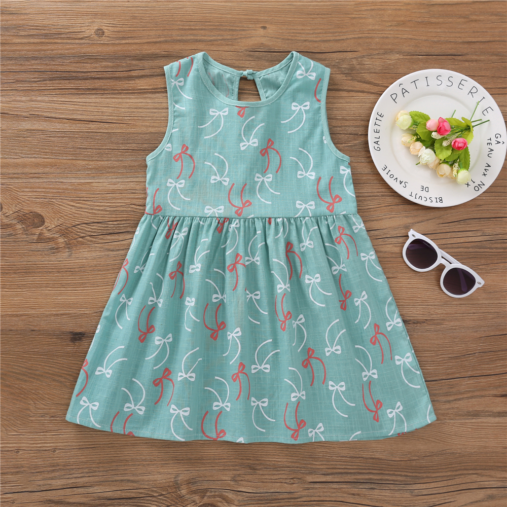 HTB1w2gbafjsK1Rjy1Xaq6zispXaK Kids Dresses for Girls Summer Girl Sleeveless Dress Toddler Flower Print Princess Dress 1 2 3 4 5 6 7 Years Children's Clothing