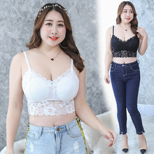 2019 New Plus Size  Sexy Lace Bralette Camisoles Black&white Tube Top 9108