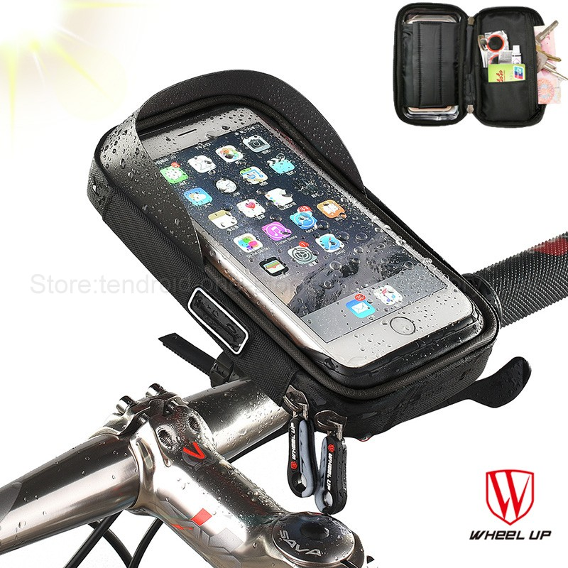"6.0"" inch Bike Bicycle Waterproof Cell Phone Bag Holder Motorcycle Mount for Samsung galaxy s8 plus/iPhone 7 plus/LG V20/Mate 9"