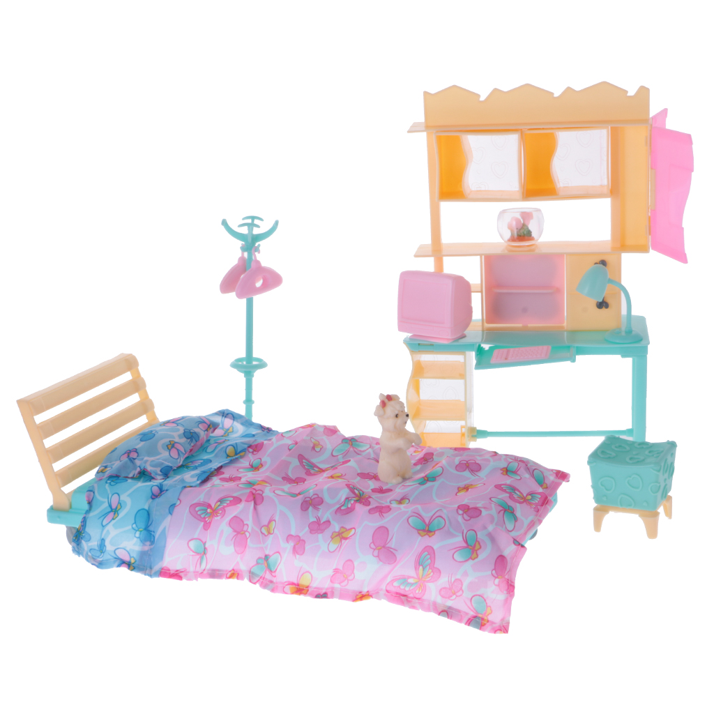 Compare Prices on Barbie Bedroom Decor  Online Shopping Buy Low   1 6 Dollhouse Minature Furniture Luxury Plastic Play Set for Barbie Dolls  House Bedroom Decor. Barbie Bedroom Decor. Home Design Ideas