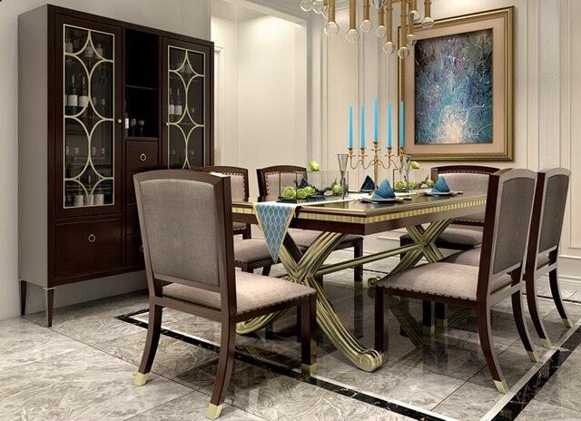 Mobília da sala de jantar conjunto de mesa de jantar em madeira sets