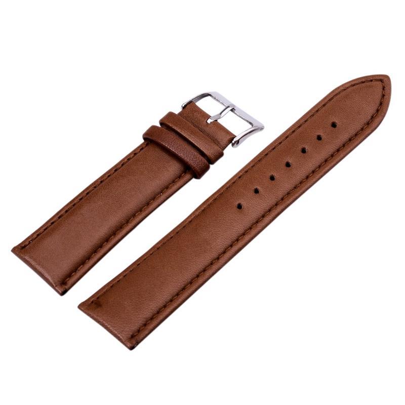 12mm 14mm 16mm 18mm 20mm 22mm 24mm PU Leather Brown  WatchBands Stainless Steel for Men & Women Brand Watch Leather Strap бесплатная доставка 10 шт лот новый оригинальный cpu eme240gbb12gt