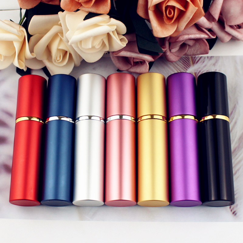1PC Top Quality 5ML 10ML Aluminum Perfume Bottle Refillable Travel Perfume Atomizer Mini Glass Spray Bottle Empty