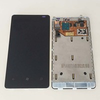 New Black Touch Digitizer LCD Screen Glass Assembly Front Frame For Nokia Lumia 800 Replacement