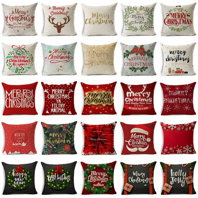 Us 323 17 Offnajwyższy Dopuszczalny Poziom Pozostałości Boże Narodzenie W Stylu Poszewka święty Mikołaj Xmas Prezenty Pozdrowienia Dekoracje Na