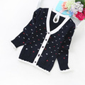 2016 new spring and autumn children sweaters girls' cardigans 2-6 years cotton cardigans 899