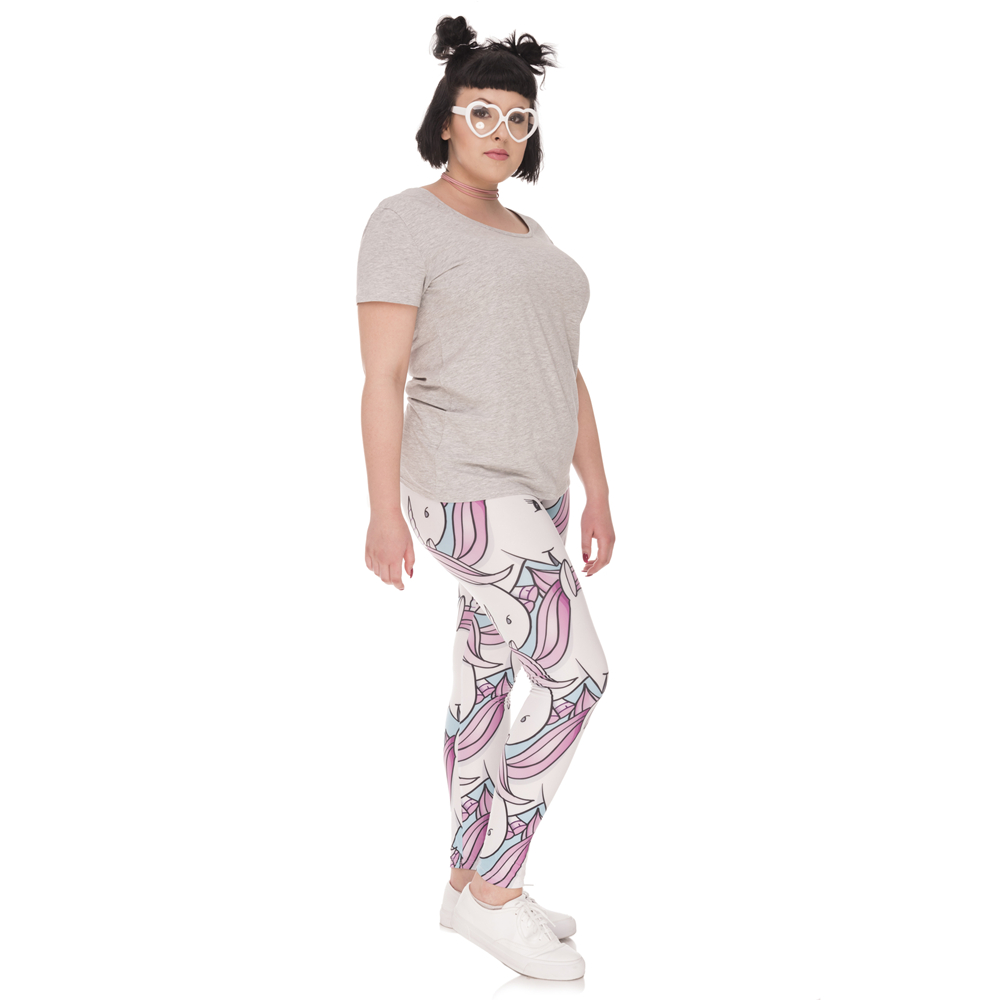 0e9372c4e65 FCCEXIO Hot Sales Large Size Leggings White Qilins Printed High Waist  Leggins Plus Size Trousers Stretch Pants For Plump Women-in Leggings from  Women s ...