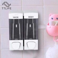 TTLIFE 1/2/3 Chamber 500/700/1050ml Liquid Hand Soap Shower Dispenser Wall Mounted  For Sink Bathroom Washroom Hotel Bath