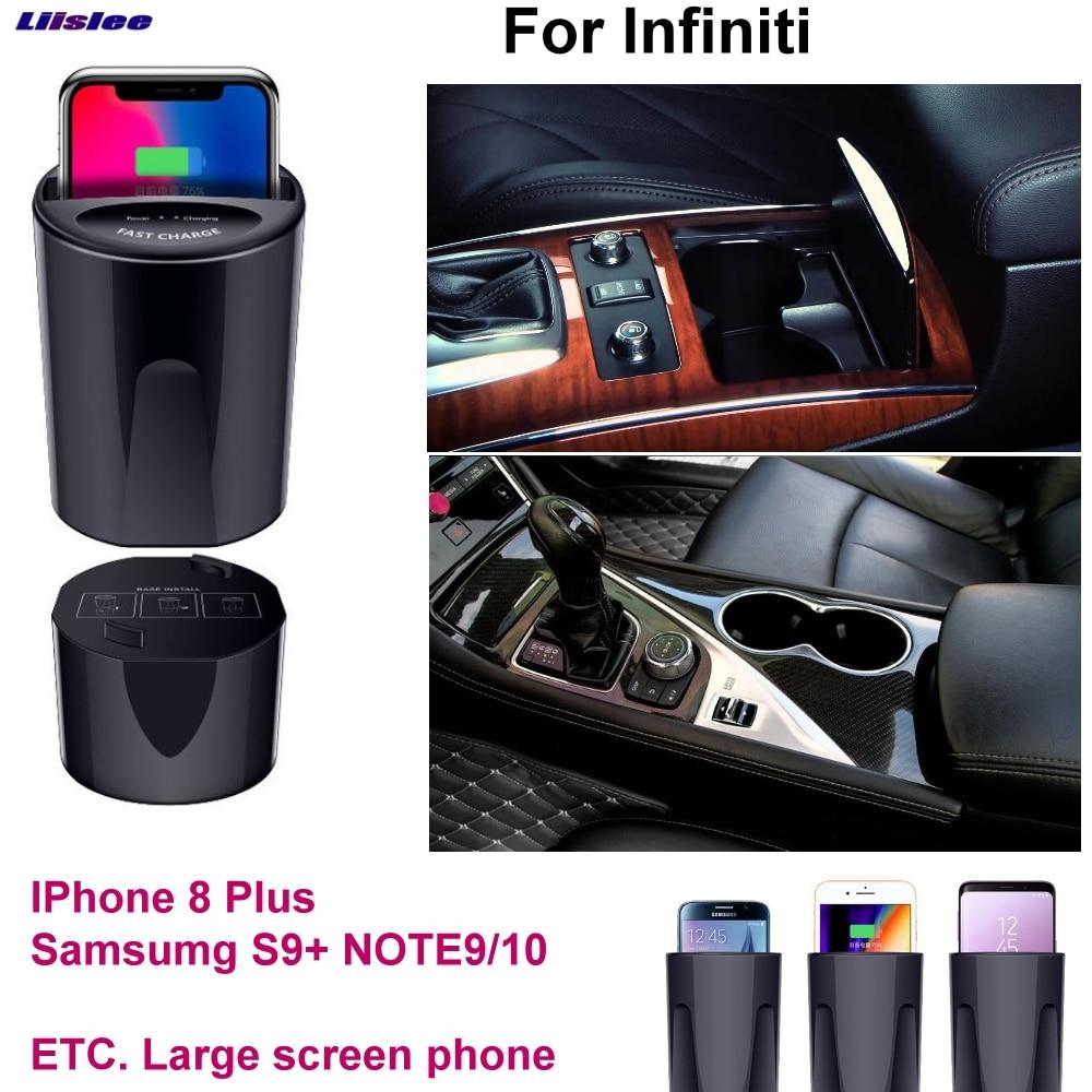 Car Qi Fast Wireless Charging Phone Holder Fast Charger For Infiniti Q30 QX50 QX60