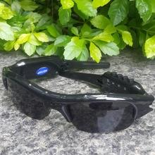 Diaital MP3 mini Cámara Grabadora de Vídeo Inalámbrico Auricular Bluetooth gafas de Sol de La Cámara Hd Con Tarjeta de 8G TF Lente