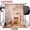 SJOLOON Christmas Photography Backdrops Christmas Photo Studio Background Vinyl Christmas Tree Photography Backgroun300X300cm