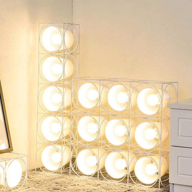 aliexpress koop nordic led vloerlamp speaker stucture moderne