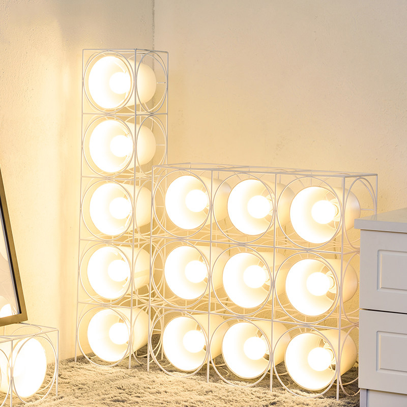 Nordic LED Floor Lamp speaker stucture Modern black white color Standing Light Toolery Living Room Bedroom shop Office Reading