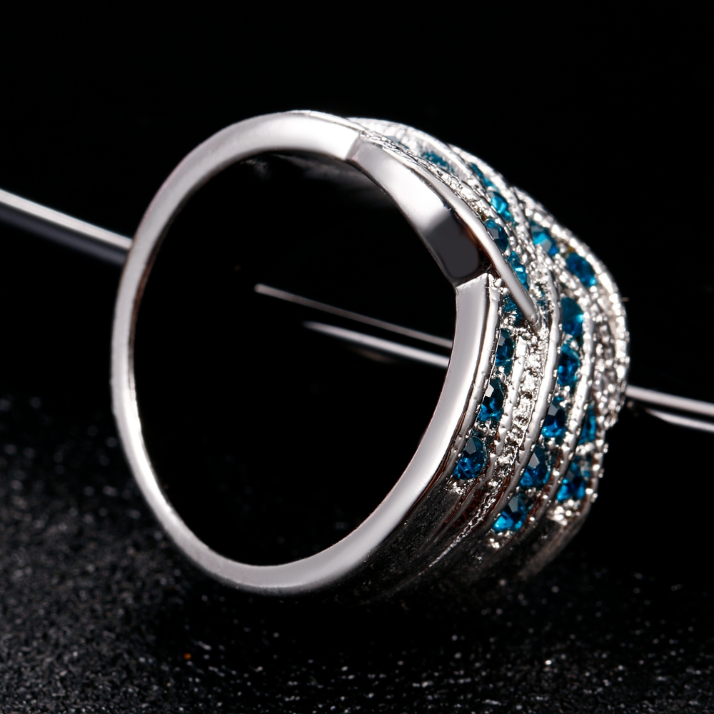HTB1w2iEKb1YBuNjSszhq6AUsFXar Fine Jewelry Luxury Party Queen Aquamarine Finger Rings For Women 925 Silver Jewelry Wedding Engagement Ring Gift Wholesale