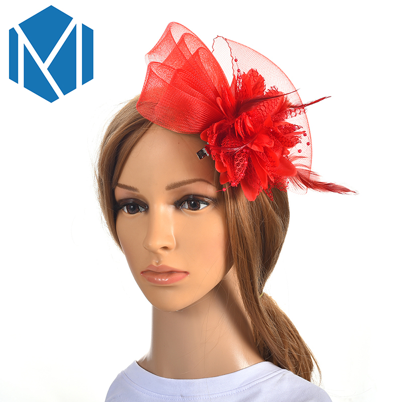 Classic Wedding Party Fascinator French Veiling Cocktail Hat Hair Clips Lady Mesh Flower Headpiece Bridal Floral Hairpins Church headpiece