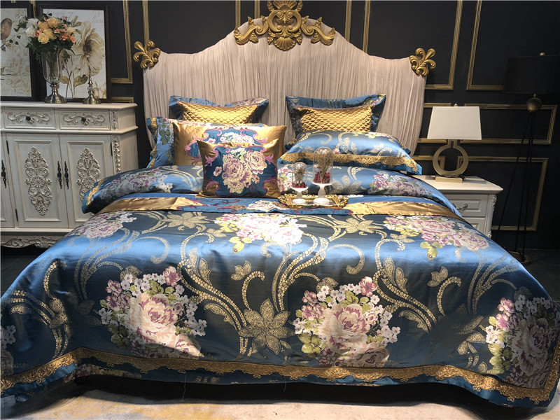 100s 600tc High Counts Silk Egyptian Cotton Bedding Set Tribute Process It Is Soft And Silky Feeling Drape Better More Comfortable Breathable