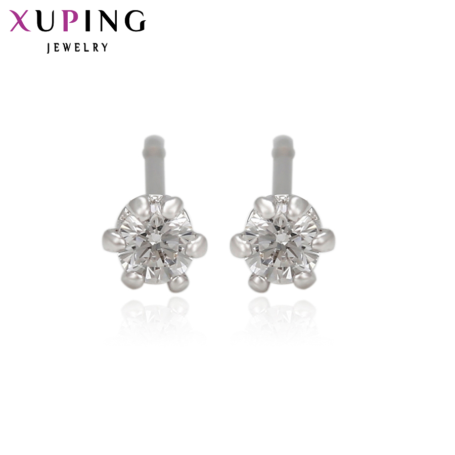 11.11 Xuping Elegant Earring Fashion Plated Earring Stud with Synthetic CZ Earrings For Women Special Design Beautiful 24460