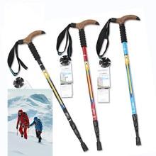 Big discount High quality Climbing Super Light Straight Handle Carbon Fiber Walking Stick CANE Telescopic Hiking Nordic Trekking Poles