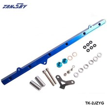 Para Toyota 2JZ Top inyector de alimentación riel de combustible Turbo Kit azul aluminio Billet HQ jdm TK-2JZYG