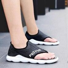 Summer 2019 Sandals Men Beach Shoes High Quality Mens Soft Sandalias Comfortable Outdoor Casual Flip Flops Style Sandalen Hombre