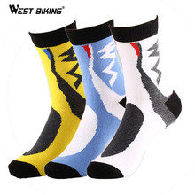 WEST BIKING Men's Compression Socks Badminton Profession Sport Socks Baseball Basketball Running Hiking Riding Cycling Socks