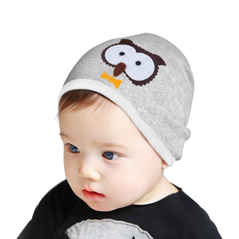 Cotton Owl Print Girls Baby Hat Cute Kids Hats Unisex ...