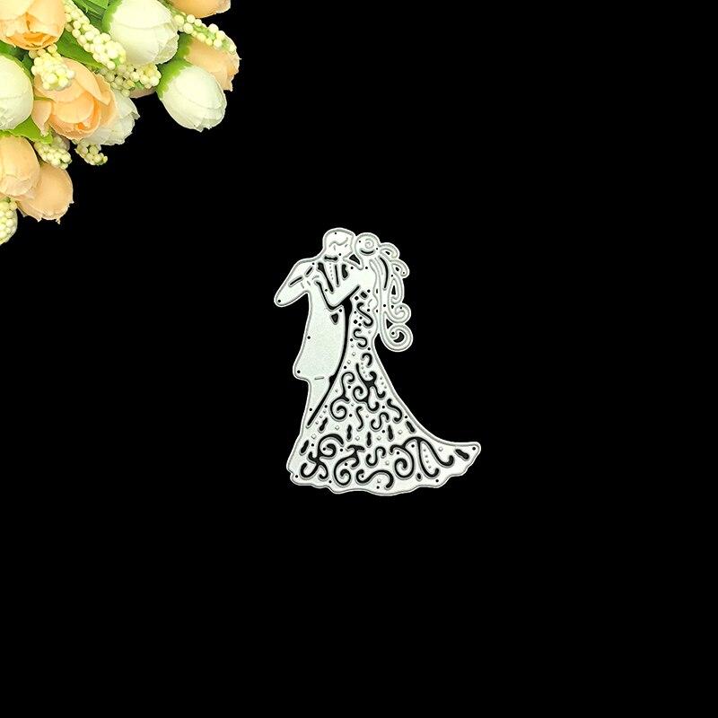 Julyarts Scrapbooking Cutting Dies Metal Romantic Wedding Love Couple Blades Craft Dies Metal For Card Making in Cutting Dies from Home Garden