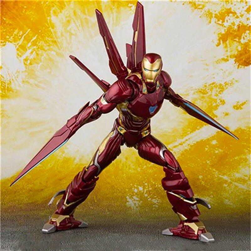 SHF Figuarts Iron Man MK50 & Tamashi scène PVC Marvel Avengers Infinity War Action Figure fer homme marque 50 modèle à collectionner jouet