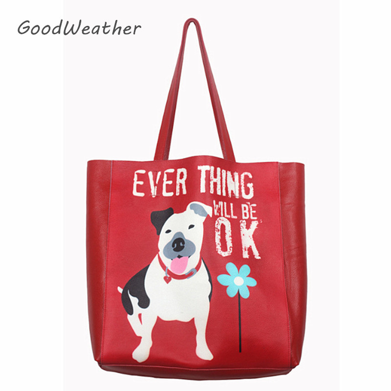 сумка aquapac 053 trailproof tote bag large Designer red tote bag for woman fashion large capacity purse real leather handbag ladies puppy print shoulder bag Christmas gift