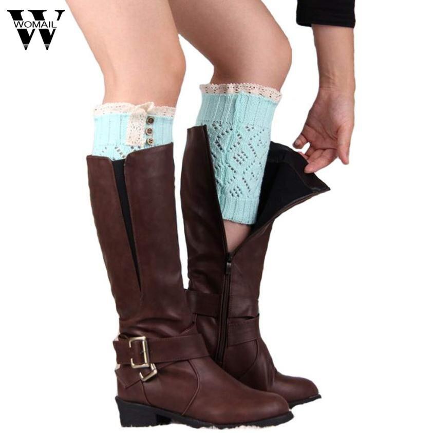 Womail 2018 Women Lace Stretch Boot Leg Cuffs Boot Socks