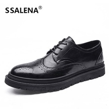 Men Brogue Shoes Breathable Leather Casual Shoes Male Summer Flats Moccasins Spring Summer Driving Shoes AA12287