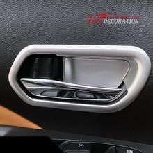 Для Nissan пинает 2017 2018 автомобилей Стайлинг Салонные Аксессуары Матовая спереди дверные ручки чаши Рамки Наклейки крышка отделка 4 шт.