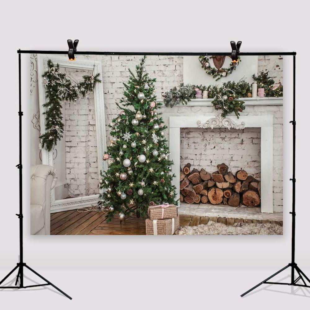 Christmas Tree Mirror Photography Background Vinyl 7x5ft or 5X3ft Brick Wall Photo Backdrops for Baby Christmas127 shengyongbao 300cm 200cm vinyl custom photography backdrops brick wall theme photo studio props photography background brw 12