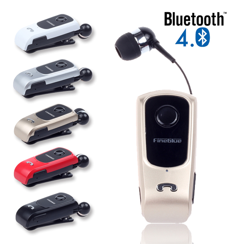 Original FineBlue F920  Wireless Bluetooth In-Ear Earphones Headset Retractable Earbuds With Collar Clip Calls Remind Vibration wireless bluetooth earphone fineblue f sx2 calls remind vibration headset with car charger for iphone samsung handfree call
