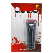 Halloween Fake Blood Bottle Dark Red Face Body Make Up Paint 29.5ml For Party, Stage Makeup