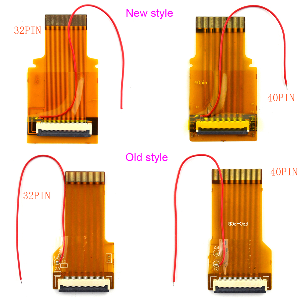 New and old models for GBA Ribbon Cable 32pin 40 Pin <font><b>AGS</b></font> <font><b>101</b></font> Backlit Adapter Screen Mod Ribbon Cable image