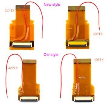 76fb21cf72 Nuevos y viejos modelos para GBA Cable 32pin 40 Pin AGS 101 retroiluminada  adaptador pantalla Mod Cable de cinta