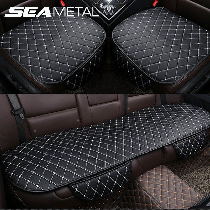 Car Seat Covers Automobiles Cushion PU Leather Universal Auto Interior Accessories Four Season Protect Set Chair Mat Car-styling