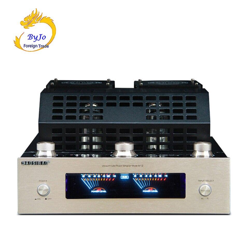 M12 HI-FI Bluetooth Tubo A Vuoto Amplificatore Stereo amplificatore di potenza audio BASS hifi uscita USB di sostegno 2 di sostegno 220 V o 110 V