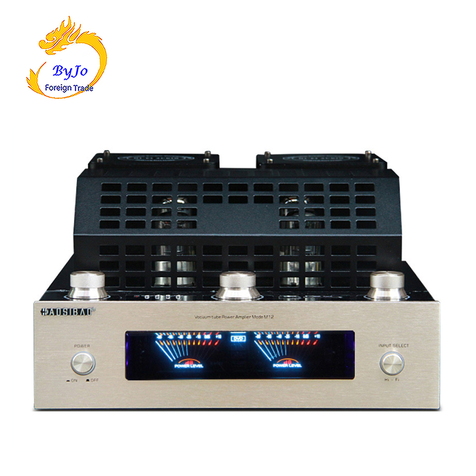 M12 HI-FI Bluetooth Vacuum Tube Stereo Amplifier support USB audio power amplifier BASS hifi output 2 support 220V or 110V music hall bluetooth 4 0 valve vacuum tube amplifier stereo power integrated audio hifi amp support usb