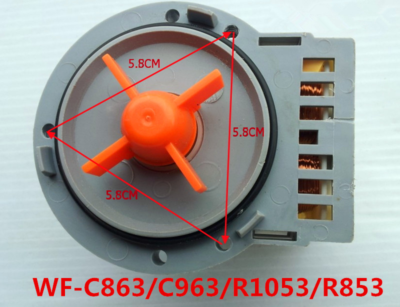 1pcs Applicable Original Samsung Washing Machine Drainage Pump Motor Parts WF-C863 / C963 / R1053 / R853 Washing Machine Parts original washer tractor xpq 6a of haier whirlpool samsung lg hand rubbing washing machine retractor brand new drainage motor