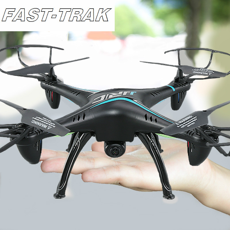 FAST-TRAK WIFI RC Quadcopter Drone with HD Camera 2.4G 4CH 6 Axis Gyro Headless Mode For Beginners, Gift for Boy jjrc 2017 new h12ch 6 axis gyro 5 0mp hd camera rc quadcopter professional drone rtf cf mode one key return set height mode