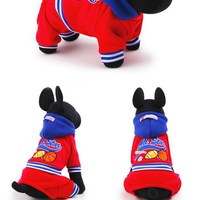 XS XLSize 2016 Free Shipping ALL STAR Pattern Pet Clothes Sports Style Cozy Cotton Dog Hoodie