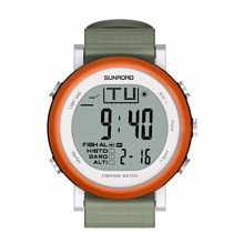 SUNROAD FR721A Men Fishing Sports  Watch – Digital Stopwatch/Altimeter/Barometer/Thermometer  with Nylon Strap Clock (Orange)