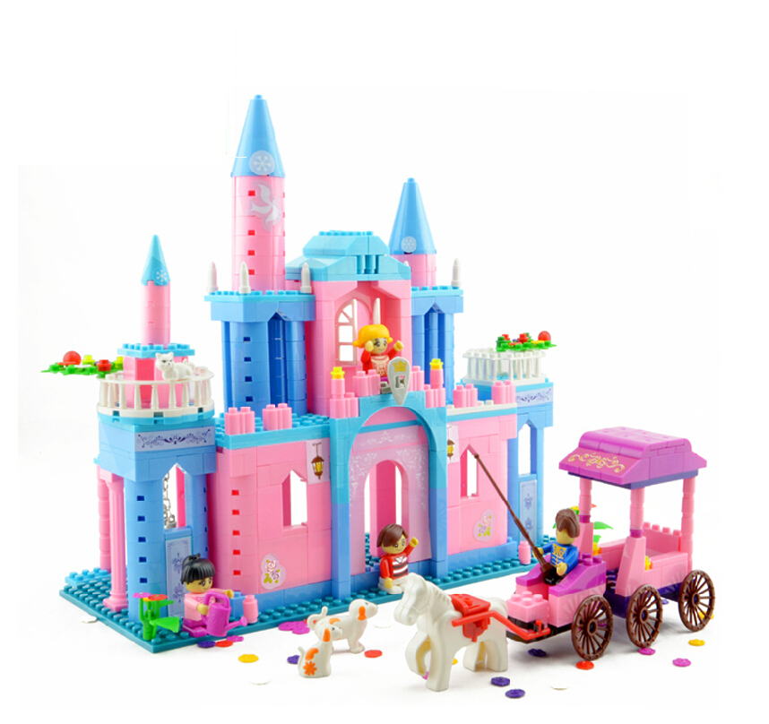 Freeshipping Preschool Puzzle learning & education Banbao Princess series 8360 Castle 532pcs Building Set Girls Bricks Toy buw constellation frame series pisces diy wooden 3d puzzle jigsaw model g pf102 creative toys of boys girls preschool education games