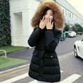 Grande Real Natural Raccon Pele Para Baixo Parka 2016 Nova Jaqueta de Inverno das Mulheres Para Baixo algodão-acolchoado jacket casacos de inverno mulheres casaco