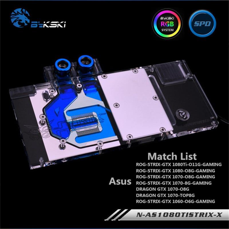 Bykski Full Coverage GPU Water Block For ASUS GTX1080TI 1080 1070 Raptor Graphics Card Water-Cooled head N-AS1080TI STRIX-X a as39x x 390 strix r9 390x full coverage water cooled head water jacket